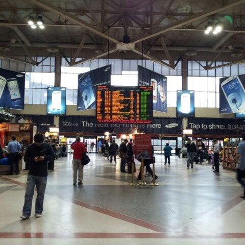Photo taken at South Station Terminal (MBTA / Amtrak) by Ashley M. on 10/4/2012