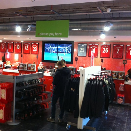Photo taken at Liverpool FC Official Club Store by Tom D. on 11/3/2012