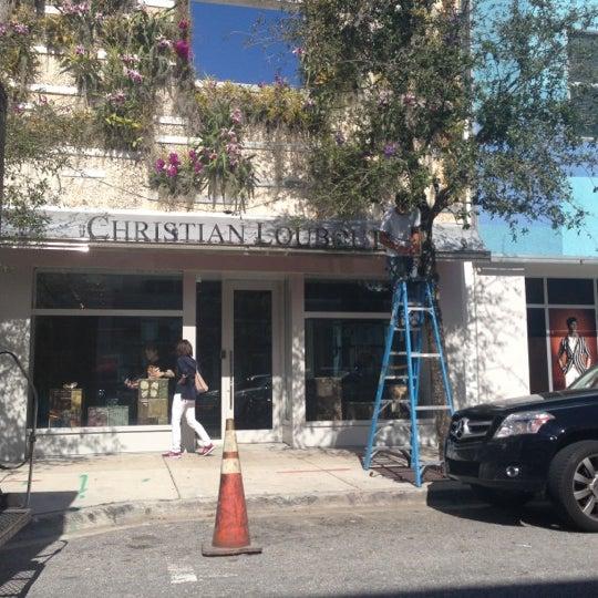Photo taken at Christian Louboutin by Husein H. on 12/7/2012