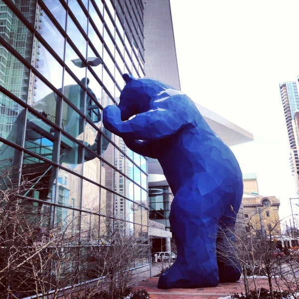 Photo taken at Big Blue Bear (I See What You Mean) by Gia R. on 1/30/2013