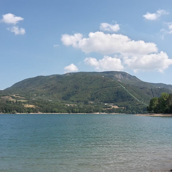 Photo taken at Lago di Suviana by Ágnes U. on 8/20/2016