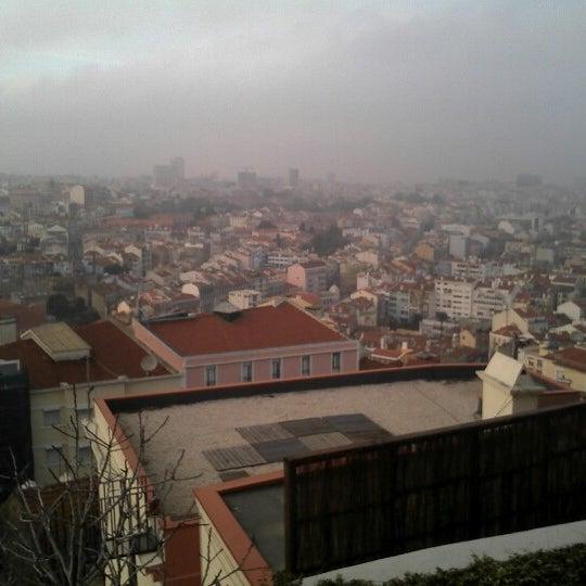 Photo taken at Miradouro Sophia de Mello Breyner Andresen by Yannick d. on 12/23/2012