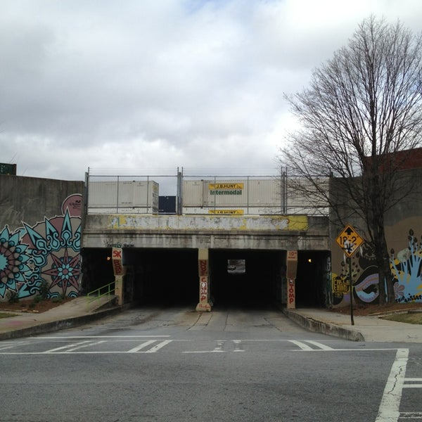 Photo taken at Krog Street Tunnel by John M. on 1/6/2013