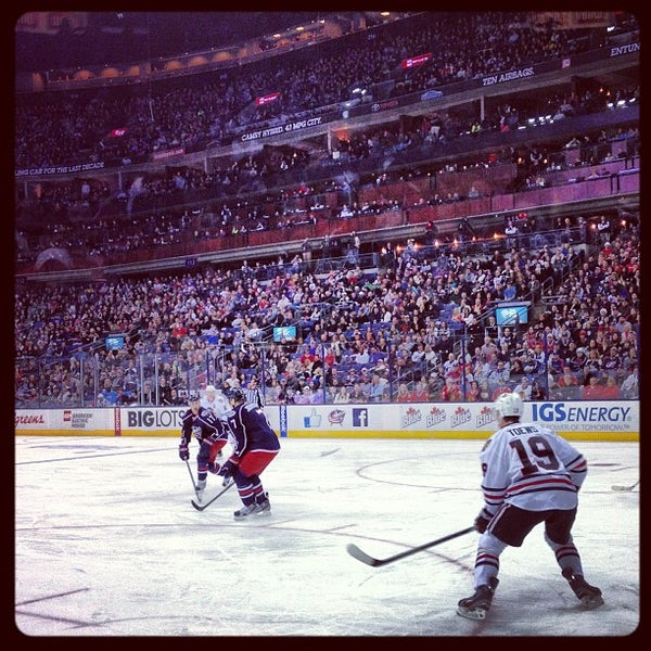 Photo taken at Nationwide Arena by Steve 'Canada' P. on 1/27/2013
