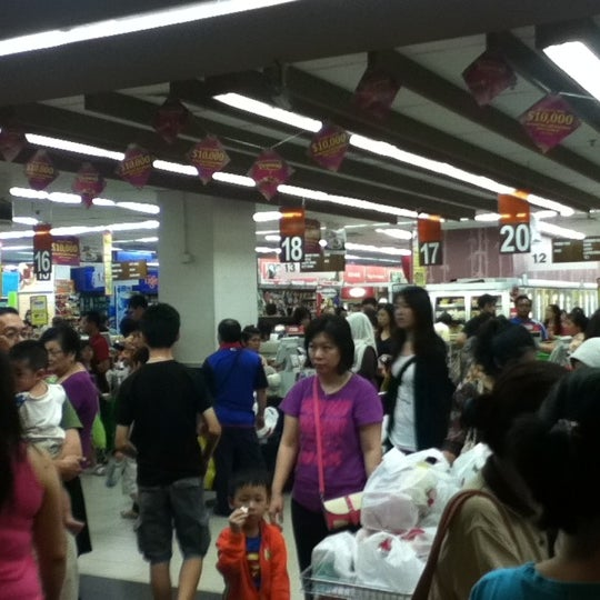 Photo taken at NTUC FairPrice by Mae L. on 11/10/2012