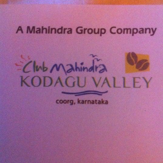 Photo taken at Club Mahindra Madikeri by maXud on 12/3/2012