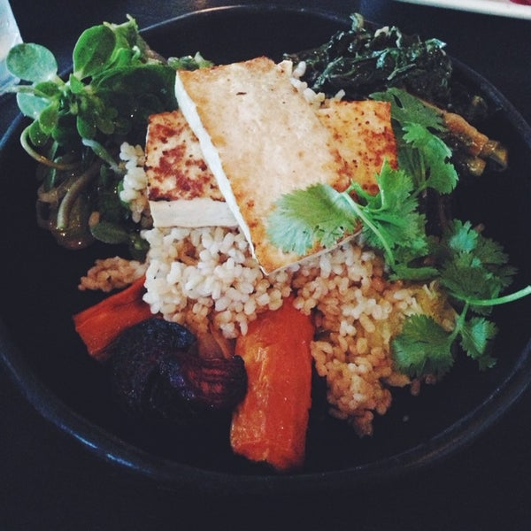 The Rice Bowl with Tofu is frequently vegan or can be modified vegan :)