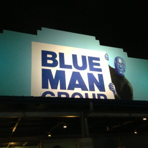 Photo taken at Blue Man Group at Universal CityWalk by Mateus G. on 2/7/2013