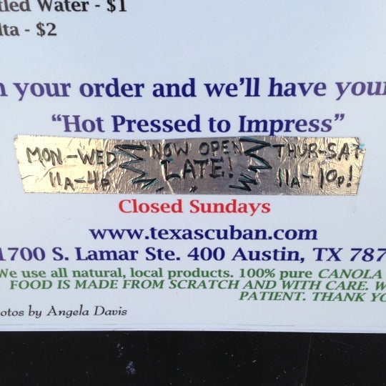 Photo taken at The Texas Cuban by Sven J. on 12/17/2012