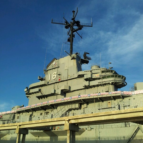 Photo taken at USS Lexington Museum On The Bay by A T. on 2/27/2013