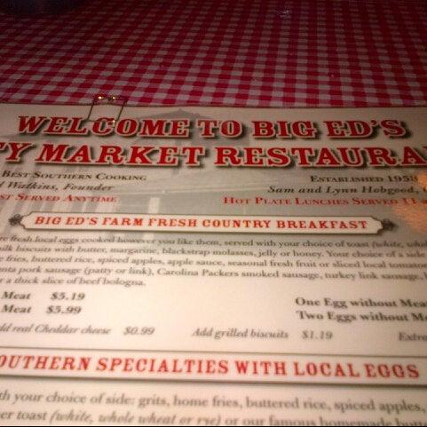 Photo taken at Big Ed's City Market Restaurant by Jarrett C. on 9/18/2013