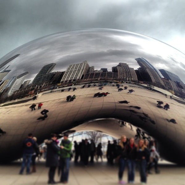 Photo taken at Cloud Gate by Anish Kapoor by Michael S. on 4/14/2013