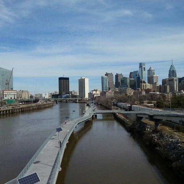 Photo taken at South Street Bridge by Rita K. on 3/13/2015