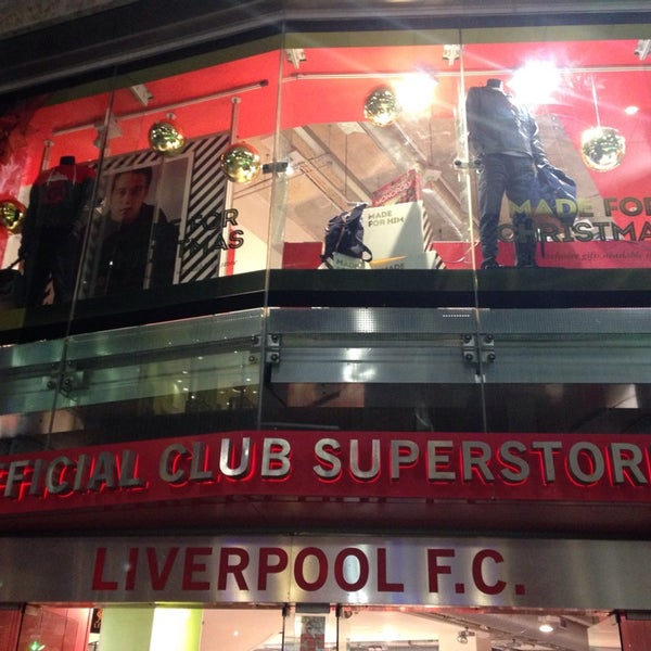 Photo taken at Liverpool FC Official Club Store by Melissa W. on 11/27/2014
