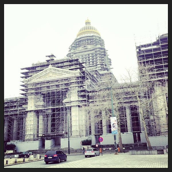 Photo taken at Justitiepaleis / Palais de Justice by Maxime V. on 3/10/2013