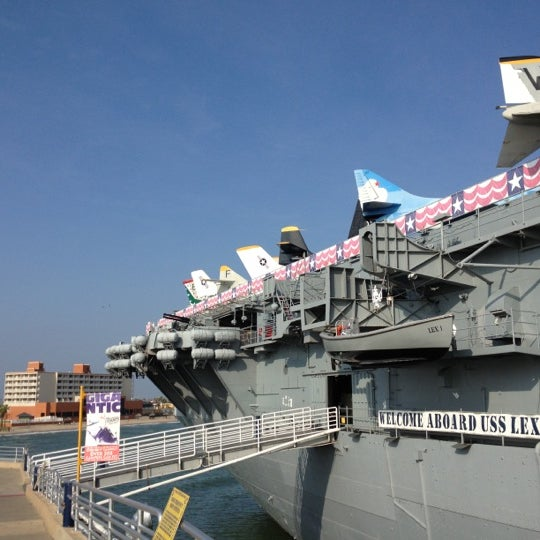 Photo taken at USS Lexington Museum On The Bay by Mari-chu C. on 12/8/2012
