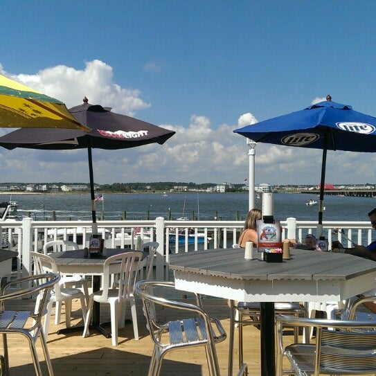 Photo taken at Marina Deck Resturant by Amanda K. on 8/24/2013