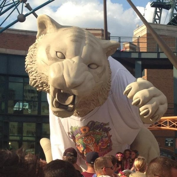 Photo taken at Comerica Park by Elise T. on 7/21/2013