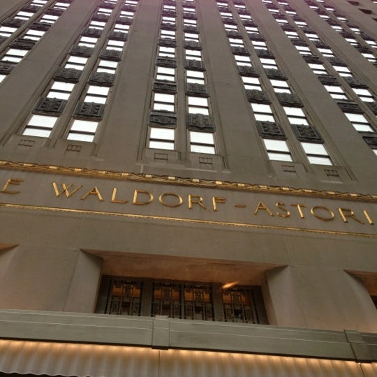 Photo taken at Waldorf Astoria New York by Louis R. on 10/28/2012