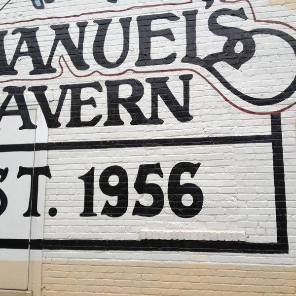 Photo taken at Manuel's Tavern by Mack E. on 4/14/2013