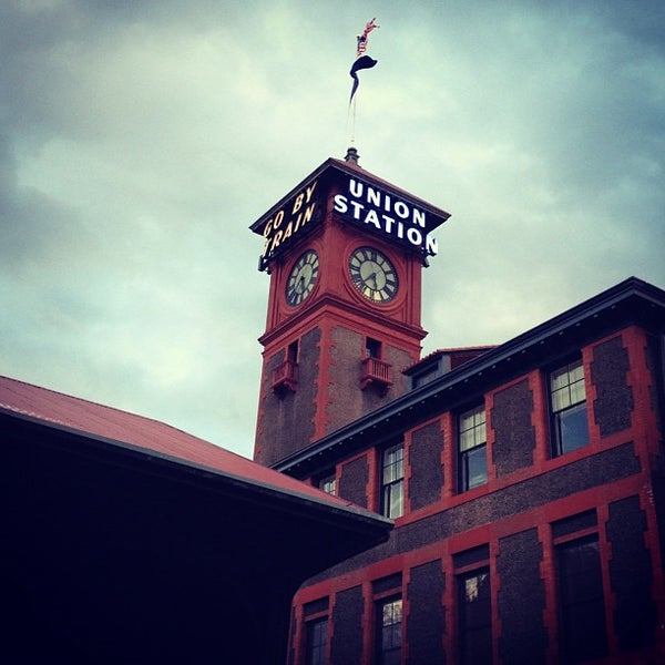 Photo taken at Union Station Amtrak (PDX) by Katie C. on 11/1/2012