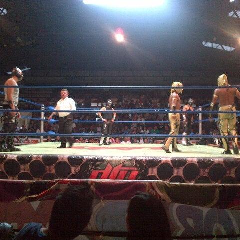 Photo taken at Arena Adolfo Lopez Mateos by Hugo T. on 12/17/2012