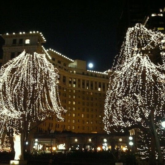 Photo taken at Rice Park by La F. on 11/29/2012