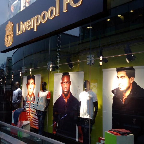 Photo taken at Liverpool FC Official Club Store by Hakeem S. on 3/28/2015