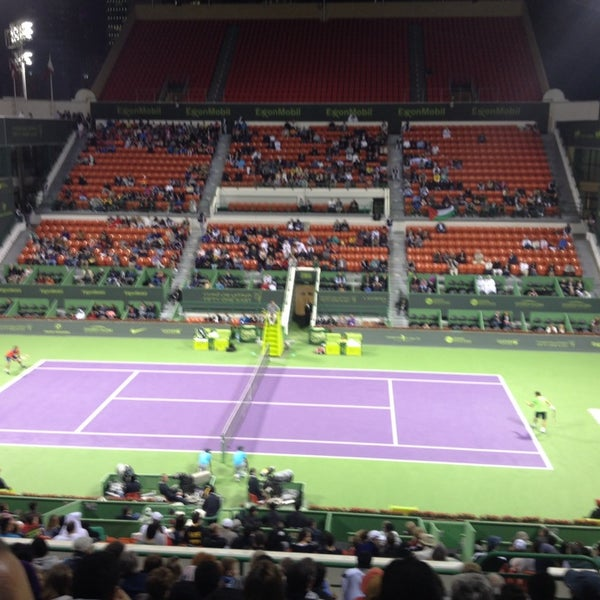 Photo taken at Qatar Tennis Federation by Sherif S. on 12/31/2013