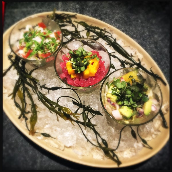 By all means order the Ceviche. If you are adventurous get the Ceviche trio. It's all that!!