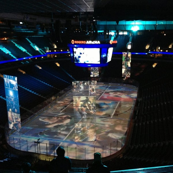 Photo taken at Rogers Arena by Sebastian G. on 2/16/2013