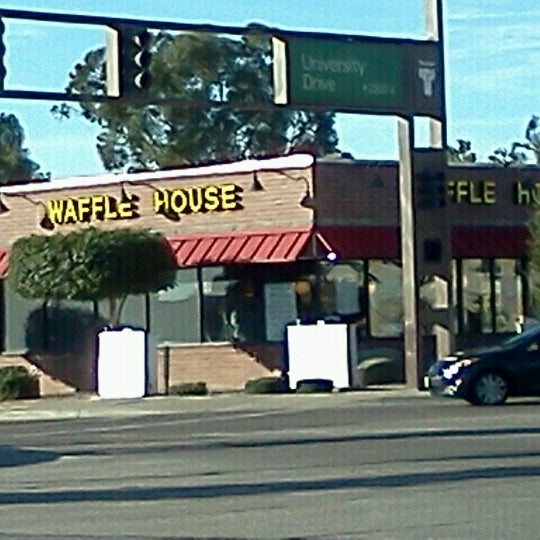 Photo taken at Waffle House by Andrew D. on 12/29/2012