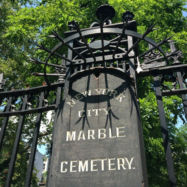 Photo taken at New York City Marble Cemetery by Rachel W. on 8/6/2013
