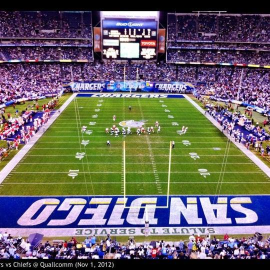 Photo taken at Qualcomm Stadium by Matt M. on 11/2/2012
