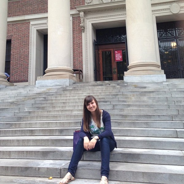 Photo taken at Widener Library by Maria S. on 7/12/2013