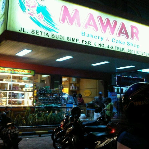 Photo taken at Mawar Bakery and Cake Shop by Bl A. on 10/25/2012