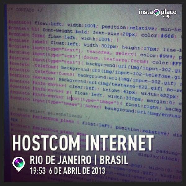 Foto tirada no(a) HostCom Internet por Felipe V. em 4/6/2013