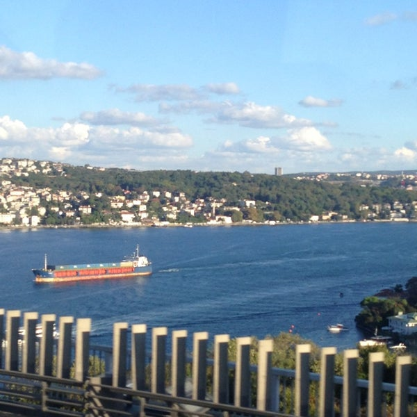 Photo taken at Fatih Sultan Mehmet Bridge by Ceren Z. on 9/4/2013