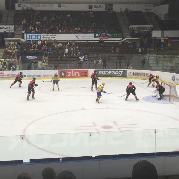 Photo taken at Zimní stadion Luďka Čajky by V H. on 8/17/2016