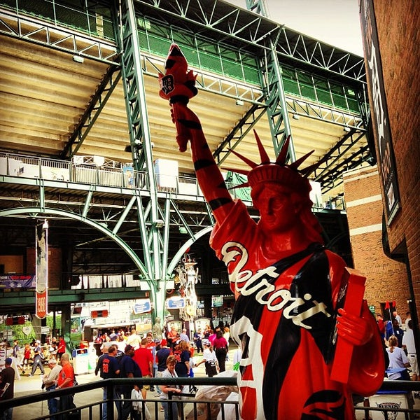 Photo taken at Comerica Park by Jake M. on 7/27/2013