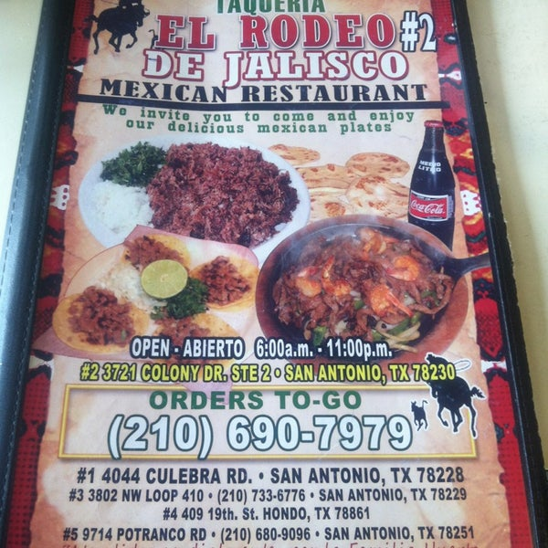 Taqueria El Rodeo De Jalisco Mexican Restaurant In Vance
