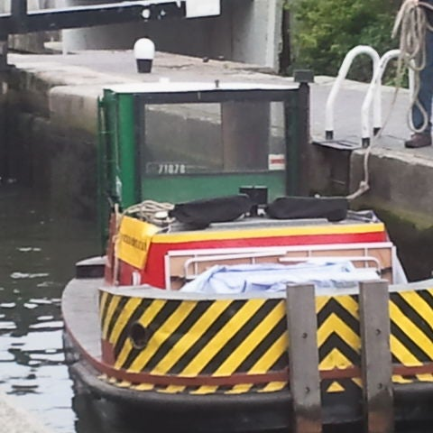 Our tug Bantam IV on the way to Canalway Cavalcade, the London canal festival at Paddington. Come along this weekend and visit our stand!