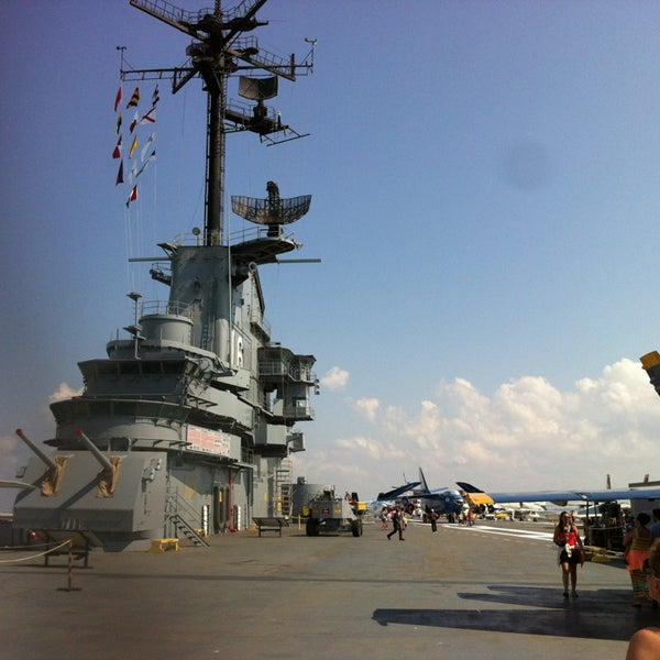Photo taken at USS Lexington Museum On The Bay by Luis B. on 7/5/2013