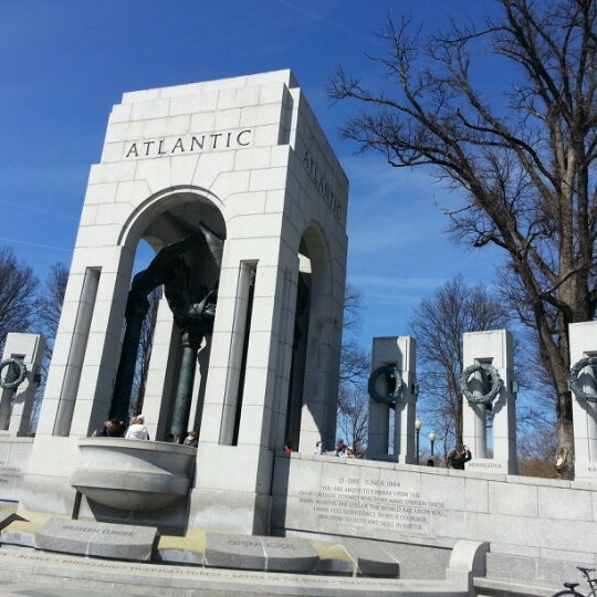 Photo taken at World War II Memorial by D S. on 3/10/2013