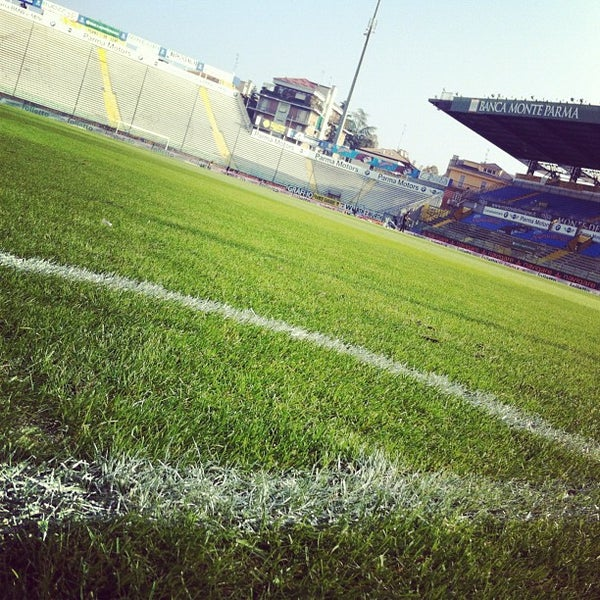 Photo taken at Stadio Ennio Tardini by Sirio V. on 10/21/2012