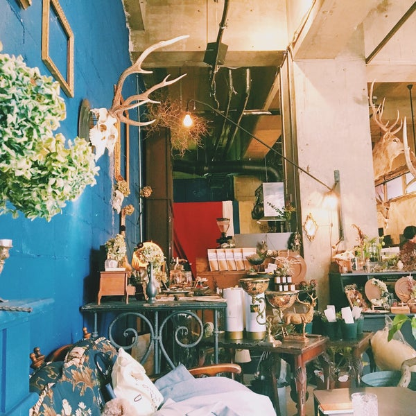 photo taken at botanicalitemcafe cyan by yuka k on - Cyan Cafe Interior