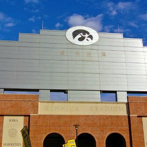 Photo taken at Kinnick Stadium by Michael W. on 11/11/2012