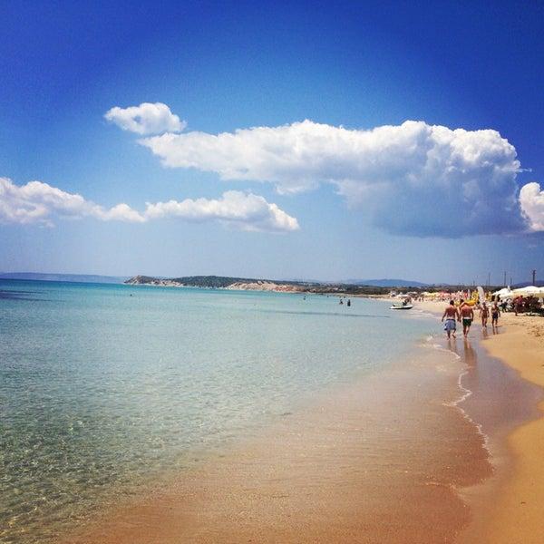 Photo taken at Ramo Beach by Esin B. on 6/15/2013