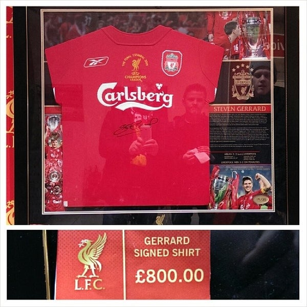 Photo taken at Liverpool FC Official Club Store by Sturla S. on 1/30/2014