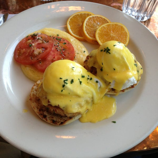 Great food!  Get the crab cakes benedict for breakfast.